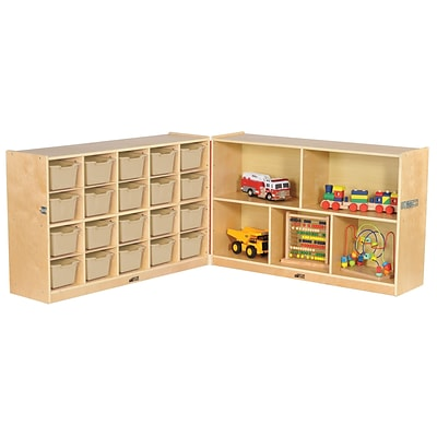ECR4Kids Fold and Lock 20 Tray Cabinet with 30 Storage- SD (ELR-17217-SD)