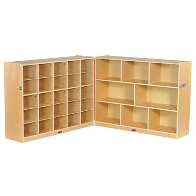 ECR4Kids Fold & Lock 25 Tray Cabinet and 36 Storage (ELR-17218)