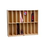 ECR4Kids Birch 16-Section Streamline Coat Locker (ELR-17305)