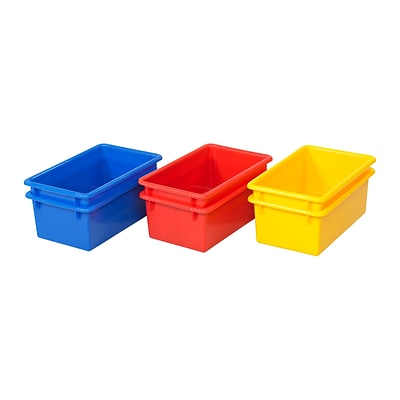 ECR4Kids Stack & Store Tub without Lid, 6 Piece - AS