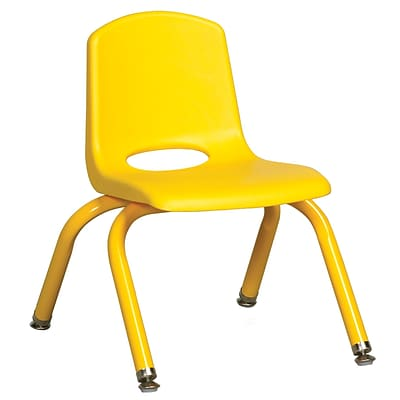 ECR4Kids 10 Stack Chair with Matching Legs - Yellow (ELR-2192-YEG)