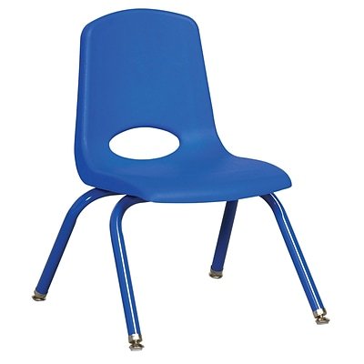 ECR4Kids 12 Stack Chair with Matching Legs - Blue (ELR-2193-BLG), 6/Pack