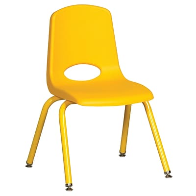 ECR4Kids 14 Stack Chair with Matching Legs - Yellow (ELR-2194-YEG)