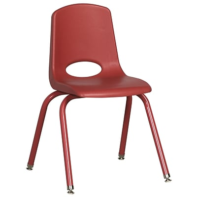 ECR4Kids 16 Stack Chair with Matching Legs -Red (ELR-2195-RDG)