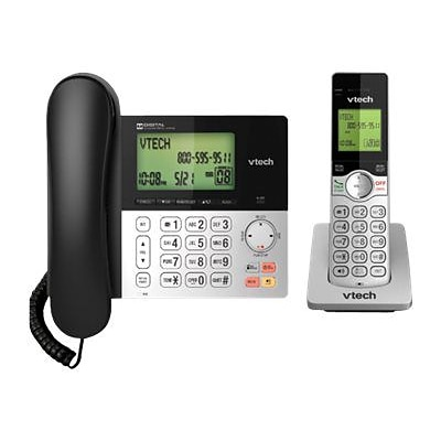 Vtech CS6949 Cordless Expandable Phone System; Black/Silver