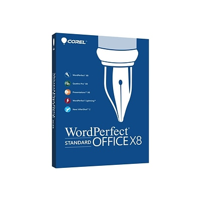 Corel WordPerfect Office X8 Standard Upgrade Edition Software; 1 User, Windows, Disk (WPOX8STDEFMBUG)