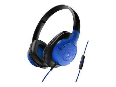 Audio Technica(r) ATH AX1iS SonicFuel(r) Over ear Headphone for Smartphones; Blue