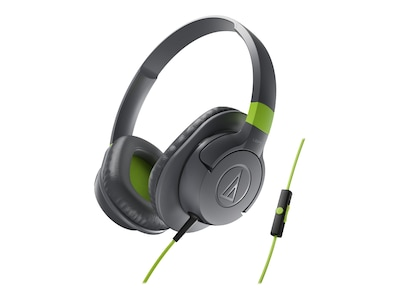 Audio Technica(r) ATH AX1iS SonicFuel(r) Over ear Headphone for Smartphones; Gray