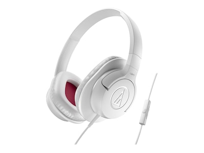 Audio Technica(r) ATH AX1iS SonicFuel(r) Over ear Headphone for Smartphones; White
