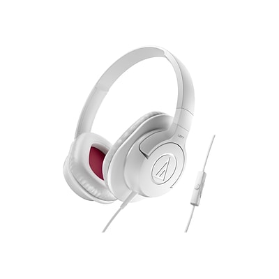 Audio-Technica® ATH-AX1iS SonicFuel® Over-ear Headphone for Smartphones; White