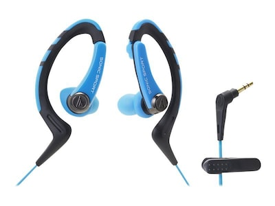 Audio Technica(r) ATH SPORT1 SonicSport(r) In ear Headphone; Blue