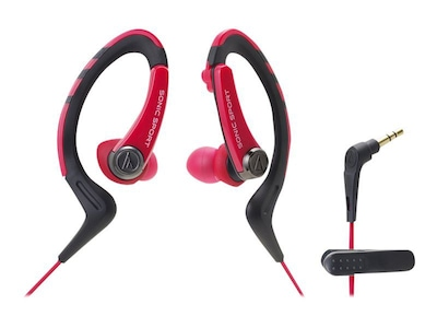 Audio Technica(r) ATH SPORT1 SonicSport(r) In ear Headphone; Red