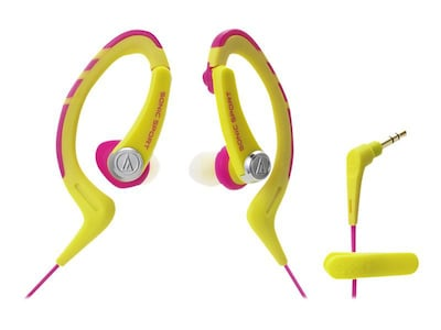 Audio Technica(r) ATH SPORT1 SonicSport(r) In ear Headphone; Pink/Yellow
