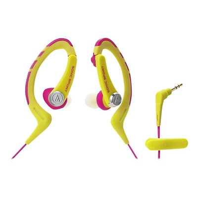 Audio-Technica® ATH-SPORT1 SonicSport® In-ear Headphone; Pink/Yellow