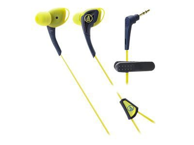 Audio Technica(r) ATH SPORT2 SonicSport(r) In ear Headphone; Navy/Yellow