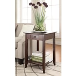 Convenience Concepts Inc. American Heritage End Table w/Drawer and Shelf Espresso Finish (7104077ES)