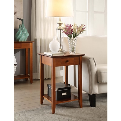 Convenience Concepts Inc. American Heritage End Table w/Drawer and Shelf Cherry Finish (7104077CH)