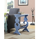 Convenience Concepts Inc. American Heritage Willow End Table w/ Magazine Rack Blue Finish (7103070BE