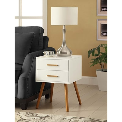 Convenience Concepts Inc. Olso 2 Drawer End Table White Finish (203522)