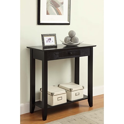 Convenience Concepts Inc. American Heritage Hall Table w/ Drawer and Shelf Black  (8013081-BL)