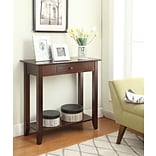 Convenience Concepts Inc. American Heritage Hall Table w/Drawer and Shelf; Espresso (8013081-ES)