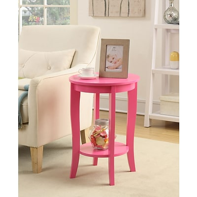 Convenience Concepts Inc. American Heritage Round Table; Pink Finish (7106259PK)