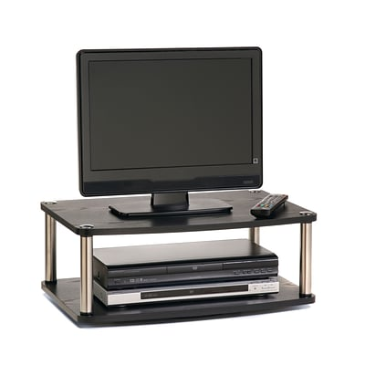 Convenience Concepts Inc. Designs2Go Double Tier Swivel TV Stand Black Finish (191024)