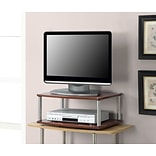 Convenience Concepts Inc. Designs2Go Double Tier Swivel TV Stand Cherry Finish (191024CH)