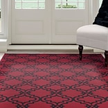 Lavish Home Double Lattice Area Rug 8x10 - Red & Black  (62-1041BC-810)