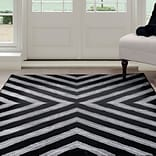 Lavish Home Kaleidoscope Area Rug - Black & Grey - 33x5 (62-2028A-65-335)