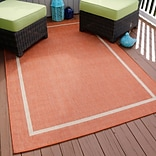 Lavish Home Border Indoor/Outdoor Area Rug - Orange - 5x77 (62-4328-T)