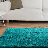 Lavish Home High Pile Shag Rug Carpet - Seafoam - 21 x 36  (67-12-SF)