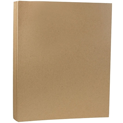 JAM Paper® Extra Thick Cardstock, 8.5 x 11, 130lb Brown Kraft Paper, 25/pack (78832695)