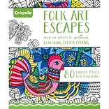 Crayola® Folk Art Escapes Adult Coloring Book