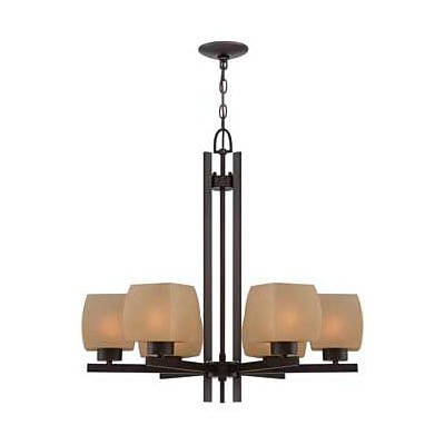 Aurora Lighting 6-Light Incandescent Chandelier - Dark Bronze (STL-LTR452041)