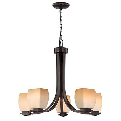Aurora Lighting 5-Light Incandescent Chandelier - Dark Bronze (STL-LTR448167)