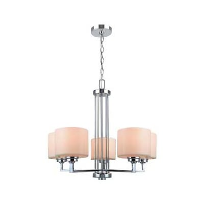 Aurora Lighting 5-Light Incandescent Chandelier - Polished Chrome (STL-LTR455219)