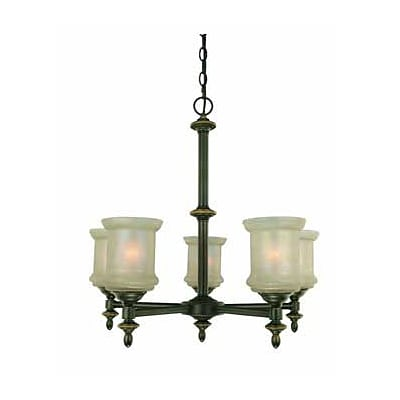 Aurora Lighting 5-Light Incandescent Chandelier - Bronze (STL-LTR431954)