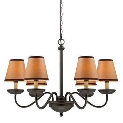 Aurora Lighting 6-Light Incandescent Chandelier - Dark Bronze (STL-LTR457206)