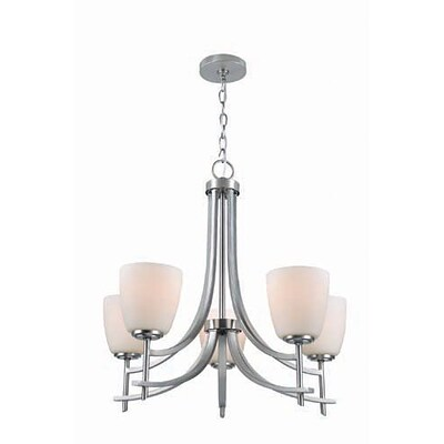 Aurora Lighting 5-Light Incandescent Chandelier - Polished Steel (STL-LTR458852)