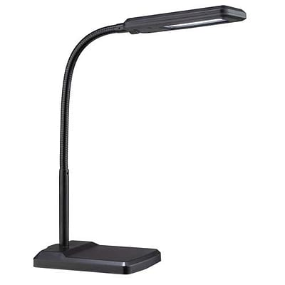 Aurora Lighting 1-Light LED Clip-On Desk Lamp - Black (STL-LTR453314)