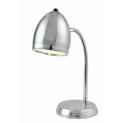 Aurora Lighting 1-Light CFL Desk Lamp - Polished Steel (STL-LTR458128)