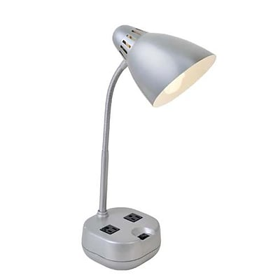 Aurora Lighting 1-Light CFL Desk Lamp - Silver (STL-LTR459248)