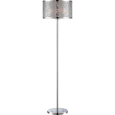 Aurora Lighting 1-Light CFL Floor Lamp - Polished Chrome (STL-LTR456209)