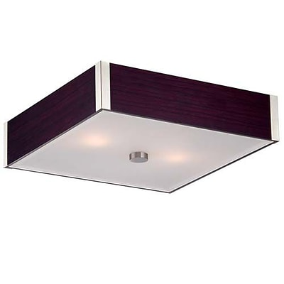 Aurora Lighting 2-Light Incandescent Flush Mount - Dark Walnut (STL-LTR452751)