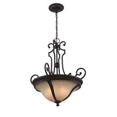 Aurora Lighting 3-Light Incandescent Pendant - Antique Bronze (STL-LTR496847)