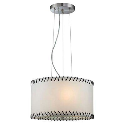 Aurora Lighting 3-Light Incandescent Pendant - Polished Steel (STL-LTR450986)