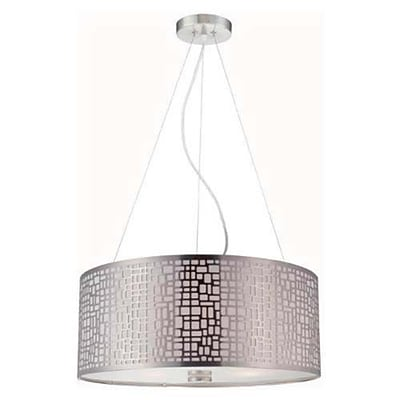 Aurora Lighting 3-Light Incandescent Pendant - Polished Steel (STL-LTR455981)