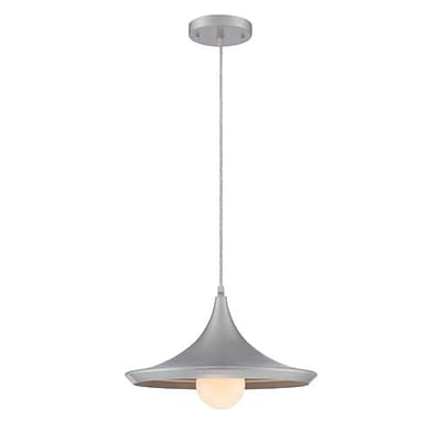 Aurora Lighting 1-Light Incandescent Pendant - Silver (STL-LTR464105)