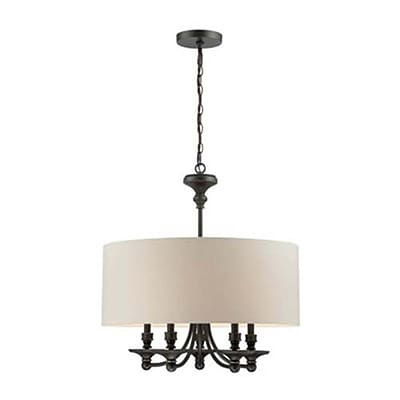 Aurora Lighting 5-Light Incandescent Pendant - Dark Bronze (STL-LTR457190)